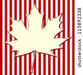 White Maple Leaf Silhouette On...