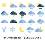 set of watercolor weather icons.... | Shutterstock . vector #1158931456