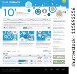 web site design template | Shutterstock .eps vector #115893256