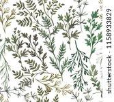 watercolor herbal organic... | Shutterstock . vector #1158933829
