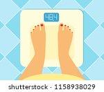 illustration of female legs on... | Shutterstock .eps vector #1158938029