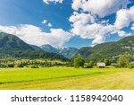 pasture meadow in slovenia....   Shutterstock . vector #1158942040