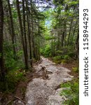 eroded trail  bare rock... | Shutterstock . vector #1158944293