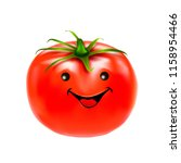 tomato on a white background... | Shutterstock .eps vector #1158954466