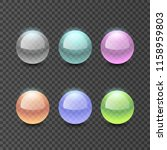 colorful glass transparent... | Shutterstock .eps vector #1158959803