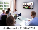 group of skillful... | Shutterstock . vector #1158960253