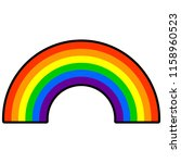 rainbow   a vector cartoon...   Shutterstock .eps vector #1158960523