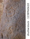 petroglyphs or rock carving at... | Shutterstock . vector #1158960610