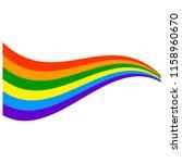 rainbow wave   a vector cartoon ...   Shutterstock .eps vector #1158960670
