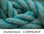 turquoise rope macro at peggy's ... | Shutterstock . vector #1158961819