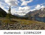 Hiking Cottonwood Trail along the shores of Kathleen Lake. Kluane National Park. Yukon Territory, Canada.