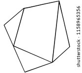 vector geometric form. isolated ...   Shutterstock .eps vector #1158965356