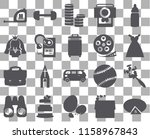 set of 20 transparent icons...   Shutterstock .eps vector #1158967843