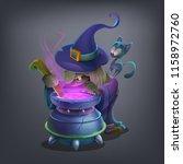 happy halloween character  ...   Shutterstock .eps vector #1158972760