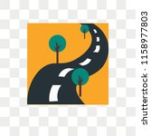 road vector icon isolated on... | Shutterstock .eps vector #1158977803