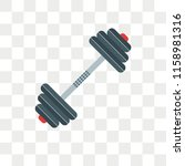 barbell vector icon isolated on ... | Shutterstock .eps vector #1158981316