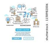 vector business concept for... | Shutterstock .eps vector #1158982006