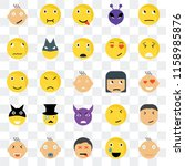 set of 25 transparent icons... | Shutterstock .eps vector #1158985876
