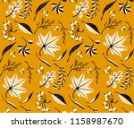 autumn leaves in cartoon style. ... | Shutterstock .eps vector #1158987670