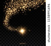 cosmic glittering wave. gold... | Shutterstock .eps vector #1158991696