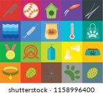 set of 20 icons such as turtle  ... | Shutterstock .eps vector #1158996400
