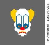 scary clown pixel art. terrible ...   Shutterstock .eps vector #1158997216