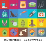 set of 20 icons such as fish... | Shutterstock .eps vector #1158999613