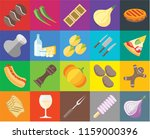 set of 20 icons such as onion ... | Shutterstock .eps vector #1159000396
