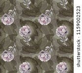 gray roses  seamless by... | Shutterstock . vector #1159002523
