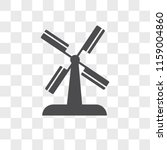 wind mill vector icon isolated... | Shutterstock .eps vector #1159004860