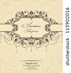 wedding invitation cards... | Shutterstock .eps vector #115902016
