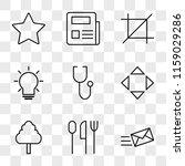 9 simple transparent vector... | Shutterstock .eps vector #1159029286