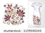embroidery colorful trend... | Shutterstock . vector #1159030243