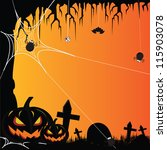 halloween party background | Shutterstock .eps vector #115903078