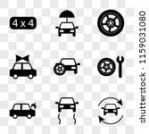 9 simple transparent vector... | Shutterstock .eps vector #1159031080