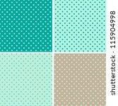 pattern seamless polka dot... | Shutterstock .eps vector #115904998