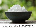 potassium hydroxide  koh  solid ...   Shutterstock . vector #1159057126