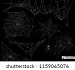 spider web  vector set of... | Shutterstock .eps vector #1159065076