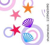 starfish shell sea vector... | Shutterstock .eps vector #1159065490