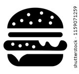 fast food burger   | Shutterstock .eps vector #1159071259