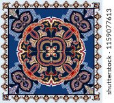 bandanna with decorative circle ...   Shutterstock .eps vector #1159077613