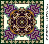 contrast bandanna  with big... | Shutterstock .eps vector #1159077619