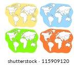 four world map   Shutterstock .eps vector #115909120