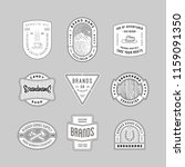 vintage logo  insignia and... | Shutterstock .eps vector #1159091350