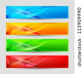 web panels form an abstract... | Shutterstock .eps vector #115909990