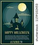 halloween background with...   Shutterstock .eps vector #1159102453