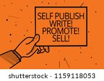 writing note showing self... | Shutterstock . vector #1159118053