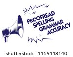 writing note showing proofread... | Shutterstock . vector #1159118140