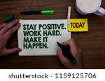 word writing text stay positive.... | Shutterstock . vector #1159125706