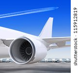 Turbine Of Passenger Plane That ...